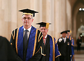 Dignitaries, including the Vice Chancellor Prof. Chris Snowden, prepare for the Graduation Ceremony, University of Surrey.