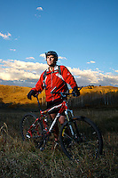Mountain Biker - Grand Teton National Park - Jackson - Wyoming - USA
