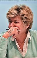 Roma 22 Gennaio 2012.Assemblea pubblica CGIL sulla sanità, per denunciare la drammatica situazione in cui versa il Servizio Sanitario Nazionale italiano e per avanzare delle proposte di cambiamento..Susanna Camusso, Segretario Generale della CGIL..