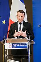 Emmanuel Macron - ASSEMBLEE DES DEPARTEMENTS DE FRANCE AVEC LES CANDIDATS A L'ELECTION PRESIDENTIELLE