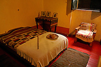 Leon Trotsky's bedroom in the Museo Casa de Leon Trotsky or Leon Trotsky House Museum in Coyoacan, Mexico City