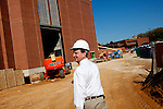 Kenny Harrison is the Fire Safety Program Manager at Auburn University in Auburn, Alabama. He conducts an inspection of the school's new basketball arena, which is under construction, November 18, 2009.