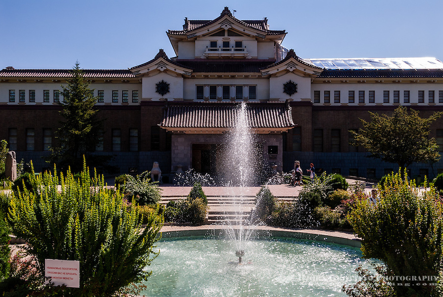 Russia, Sakhalin, Yuzhno-Sakhalinsk. Sakhalin Regional Museum is housed in a former Japanese building dating back to 1937.
