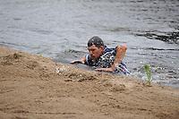 FIERJLEPPEN: JOURE: 18-06-2014, ROC Friese Poort Competitie, Senioren Topklasse, Thewis Hobma wint, Oane Galama, ©foto Martin de Jong