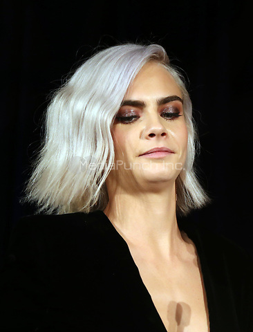 BEVERLY HILLS, CA - April 07: Cara Delevingne, At 4th Annual unite4:humanity Gala_Inside At Madame Tussauds  In California on April 07, 2017. Credit: FS/MediaPunch