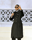 """Washington, DC - January 18, 2009 -- Usher performs at the """"Today: We are One - The Obama Inaugural Celebration at the Lincoln Memorial"""" in Washington, D.C. on Sunday, January 18, 2009..Credit: Ron Sachs / CNP.(RESTRICTION: NO New York or New Jersey Newspapers or newspapers within a 75 mile radius of New York City)"""