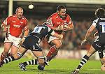 Kees Meeuws charges through the Bristol defence. Scarlets V Bristol, EDF Energy Cup &copy; Ian Cook IJC Photography iancook@ijcphotography.co.uk www.ijcphotography.co.ukUnholy Alliance Tour 2008,