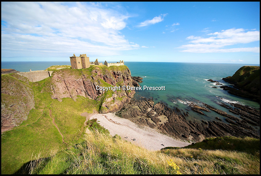 BNPS.co.uk (01202 558833)Pic: DerekPrescott/BNPS<br /> Dunottar Castle.<br /> <br /> The hidden locations of hundreds of historic ruins and forgotten relics have been revealed in the first ever guide to Britain's crumbling past.<br /> <br /> Author Dave Hamilton has spent more than three years travelling the length and breadth of the country chronicling little-known and hard-to-find remains of abandoned castles, churches, settlements and industrial works.<br /> <br /> His new book, Wild Ruins, lifts the lid on more than 250 haunting sites nationwide in a bid to reconnect people with the country's history.