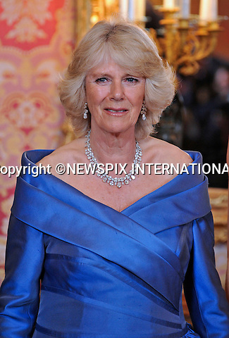 """PRINCE CHARLES AND CAMILLA, DUCHESS OF CORNWALL.WELCOMED BY CROWN PRINCE FELIPE AND CROWN PRINCESS LETIZIA OF SPAIN.The two royal families meet for the official welcome dinner at the Royal Palace of Madrid (Palacio Real de Madrid/Palacio de Oriente), Madrid_30/11/2011..Mandatory Credit Photo: ©Dias/NEWSPIX INTERNATIONAL..**ALL FEES PAYABLE TO: """"NEWSPIX INTERNATIONAL""""**..IMMEDIATE CONFIRMATION OF USAGE REQUIRED:.Newspix International, 31 Chinnery Hill, Bishop's Stortford, ENGLAND CM23 3PS.Tel:+441279 324672  ; Fax: +441279656877.Mobile:  07775681153.e-mail: info@newspixinternational.co.uk"""
