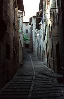 Urbino:  Narrow street.  Photo '83.