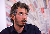 Italian journalist Gabriele Del Grande attends a press conference at the Foreign Press Association in Italy's headquarters in Rome, April 25, 2017, the day after his return from Turkey, where he had been detained for 2 weeks.<br /> UPDATE IMAGES PRESS/Riccardo De Luca