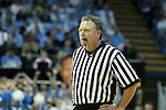 18 December 2013: Referee Karl Hess. The University of North Carolina Tar Heels played the University of Texas Longhorns at the Dean E. Smith Center in Chapel Hill, North Carolina in a 2013-14 NCAA Division I Men's Basketball game. Texas won the game 86-83.