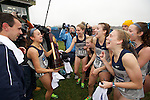 21 NOV 2011: Georgetown University celebrate following the Division I Women's Cross Country Championship held at the Wabash Valley Family Sports Center in Terre Haute, IN. Georgetown University won the team national title. Brett Wilhelm/NCAA Photos.