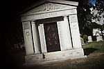 ST. JOHN CEMETERY, QUEENS, NY. OCTOBER 16, 2010. Charles « Lucky » Luciano's vault in St. John Cemetery. (Photo by Antoine Doyen)
