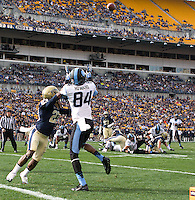 North Carolina wide receiver Bug Howard (84) looks for a pass. The North Carolina Tar Heels defeated the Pitt Panthers 34-27 at Heinz Field, Pittsburgh Pennsylvania on November 16, 2013.