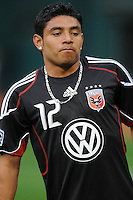 DC United midfielder Christian Castillo (12). New England Revolution defeated DC United 2-0,  at  RFK Stadium, Saturday April 3, 2010.