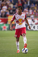 HARRISON, NJ - Wednesday April 29, 2015: The New York Red Bulls tie the Colorado Rapids 1-1 at home at Red Bull Arena in regular season MLS play.