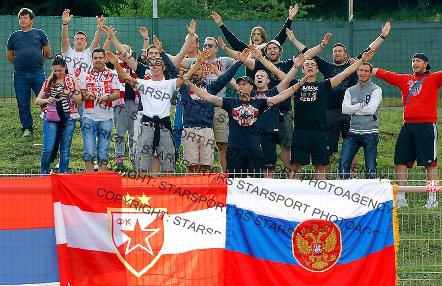 Fudbal season 2013-2014<br /> FK Crvena Zvezda pripreme<br /> Crvena Zvezda v Krka<br /> Delije navijaci fans supporters<br /> Novo Mesto, 07.12.2014.<br /> foto: Srdjan Stevanovic/Starsportphoto &copy;
