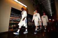 PITTSBURGH, PA - MARCH 21: Members of the Villanova Wildcats walk to the court before the start of their game against the North Carolina State Wolfpack during the third round of the 2015 NCAA Men's Basketball Tournament at Consol Energy Center on March 21, 2015 in Pittsburgh, Pennsylvania.  (Photo by Jared Wickerham/Getty Images)
