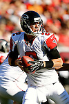Atlanta Falcons quarterback Matt Ryan (2) looks downfield in a game against the Tampa Bay Buccaneers Sunday, November 25, 2012, in Tampa, Fla. The Falcons defeated the Buccaneers 24-23.  (AP Photo/Margaret Bowles)