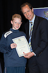 St Johnstone FC Youth Academy Presentation Night at Perth Concert Hall..21.04.14<br /> Alec Cleland presents to Josh McLaughlin<br /> Picture by Graeme Hart.<br /> Copyright Perthshire Picture Agency<br /> Tel: 01738 623350  Mobile: 07990 594431