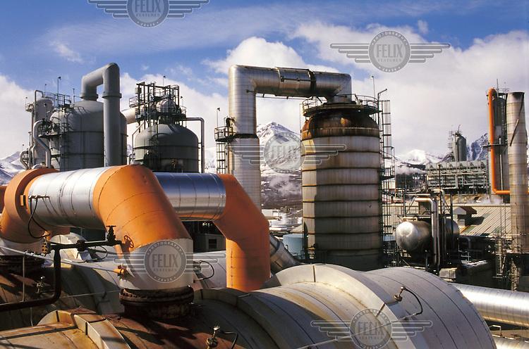 Shell oil plant, near Waterton, Alberta.