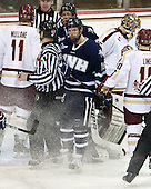 Pat Mullane (BC - 11), Harry Quast (UNH - 7), Casey Thrush (UNH - 19), Parker Milner (BC - 35) - The Boston College Eagles and University of New Hampshire Wildcats tied 4-4 on Sunday, February 17, 2013, at Kelley Rink in Conte Forum in Chestnut Hill, Massachusetts.
