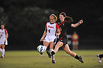 Ole Miss' Alix Hildal (4) vs. Texas Tech's Jessica Fuston (4) at the Ole Miss Soccer Stadium in Oxford, Miss. on Sunday, September 2, 2012. Ole Miss won 2-0.