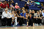 03 March 2016: Duke head coach Joanne P. McCallie. The Duke University Blue Devils played the University of Virginia Cavaliers at the Greensboro Coliseum in Greensboro, North Carolina in the Atlantic Coast Conference Women's Basketball tournament and a 2015-16 NCAA Division I Women's Basketball game. Duke won the game 57-53.
