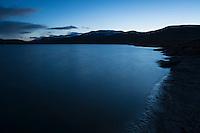 Twilight over lake Radujavri along Kungsleden trail, Lappland, Sweden