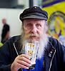 The Great British Beer Festival <br /> at Olympia, London, Great Britain <br /> 9th August 2016 <br /> 1st day <br /> <br /> The Campaign for Real Ale <br /> Great British Beer Festival <br /> Atmosphere<br /> <br /> George from Croydon who is planning to come to the beer festival every day <br /> <br /> Photograph by Elliott Franks <br /> Image licensed to Elliott Franks Photography Services