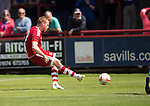 Aberdeen v St Johnstone...28.06.15  Glebe Park, Brechin..Pre-Season Friendly<br /> Adam Rooney scores from the penalty spot<br /> Picture by Graeme Hart.<br /> Copyright Perthshire Picture Agency<br /> Tel: 01738 623350  Mobile: 07990 594431