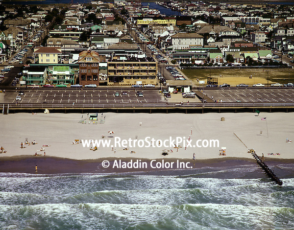 Aerial view of beach and city