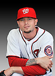 25 February 2011: Washington Nationals' pitcher Cla Meredith poses for his Photo Day portrait at Space Coast Stadium in Viera, Florida. Mandatory Credit: Ed Wolfstein Photo