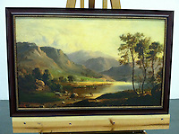 "Reproduction of Duncanson, Robert Scott (1821/22-1872) Loch Long. 1867. Framed Size 26 x 40"" x 1"""