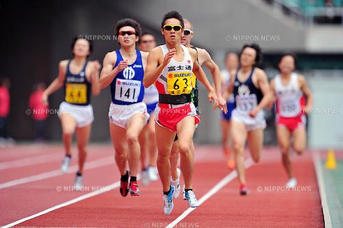 Masato Yokota (JPN),MAY 3, 2011 - Athletics : The 27th Shizuoka International Athletics 2011 Japan Grand Prix Series Circuit Athletics Rd.4, during Men's 800m at Ecopa Stadium, Shizuoka, Japan. (Photo by Jun Tsukida/AFLO SPORT) [0003]
