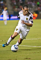 CARSON, CA – August 27, 2011: Real Salt Lake forward Fabian Espindola (7) during the match between Chivas USA and Real Salt Lake at the Home Depot Center in Carson, California. Final score Chivas USA 0, Real Salt Lake 1.