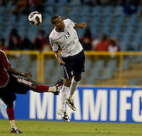 Ricardo Clark heads the ball, USA 1-0 over Trinidad at Hasely Crawford Stadium, Port of Spain, Trinidad, Wednesday, Sept. 9, 2009. ..   .