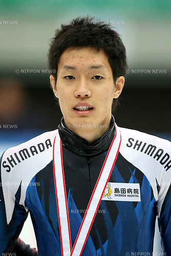 Takayuki Muratake,<br /> DECEMBER 15, 2013 - Short Track :<br /> Short track Japan National Team Selection for Sochi Oympic Games, Men's 500m final at Osaka Pool Ice Skating Rink, Osaka Japan. (Photo AFLO SPORT)