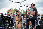 Mates of State at Fun Fun Fun Fest at Auditorium Shores, Austin Texas, November 6, 2011. Mates of State are an American indie pop duo composed of the husband-and-wife team of Kori Gardner and Jason Hammel.
