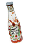Empty Bottle of Heinz Tomato Ketchup - Oct 2011