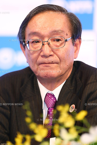 NTTHiroo Unoura,<br /> JANUARY 26, 2015 : <br /> NTT corporation has Press conference at Hotel Okura Tokyo.<br /> NTT corporation today announced that it has entered into a partnership agreement with the Tokyo Organising Committee of the Olympic and Paralympic Games.<br /> (Photo by Shingo Ito/AFLO SPORT)