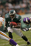 16 Jan 2005:Brian Westbrook of the Philadelphia Eagles during the Philadelphia Eagles 27-14 victory over the Minnesota Vikings at Lincoln Financial Field in Philadelphia, PA. <br />
