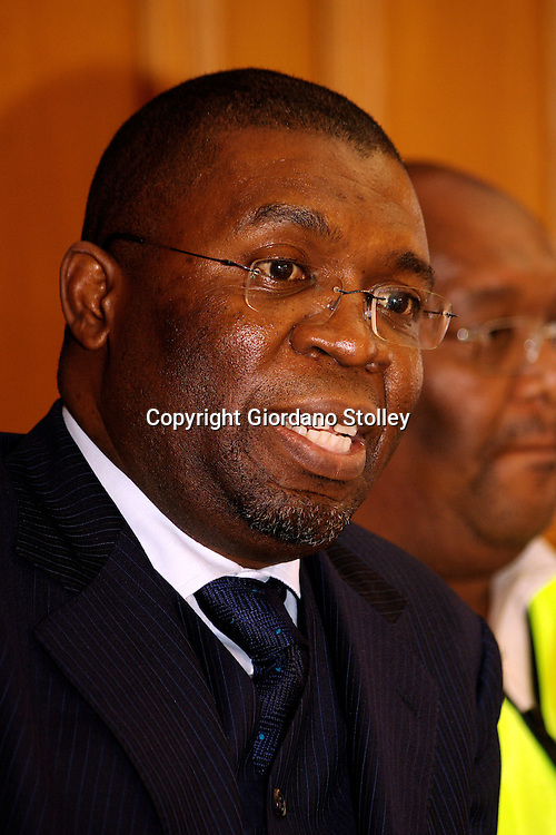 South African Local Government Minister Sydney Mufamadi ...