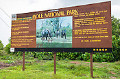 Mole National Park entrance sign, Ghana