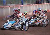 Heat 4 - Ulamek (green), Korneliussen (yellow), Shields (red), Kling (blue) - Lakeside Hammers vs Swindon Robins - Sky Sports Elite League at Arena Essex, Purfleet - 17/08/07  - MANDATORY CREDIT: Gavin Ellis/TGSPHOTO - SELF-BILLING APPLIES WHERE APPROPRIATE. NO UNPAID USE. TEL: 0845 094 6026..