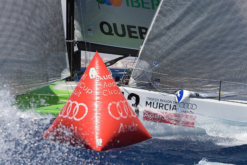 SPAIN, Carthagena, August 26th 2008, AUDI Medcup, Region of Murcia Trophy, Race 2, Action at the Windward mark.