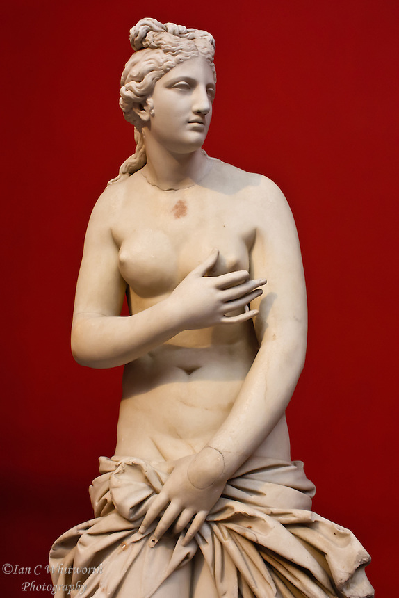 Statue of Aphrodite at a museum in Athens