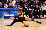 03 DEC 2011:  Camille Smith (2) of Cal State San Bernardino dives for the dig against Concordia University St. Paul during the Division II Women's Volleyball Championship held at Coussoulis Arena on the Cal State San Bernardino campus in San Bernardino, Ca. Concordia St. Paul defeated Cal State San Bernardino 3-0 to win the national title. Matt Brown/ NCAA Photos