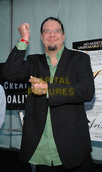 """26 July 2005 - New York, New York - Penn Jillette arrives at the premiere of his new film, """"The Aristocrats"""", at The Directors Guild Theater in Manhattan.  .Photo Credit: Patti Ouderkirk/AdMedia"""